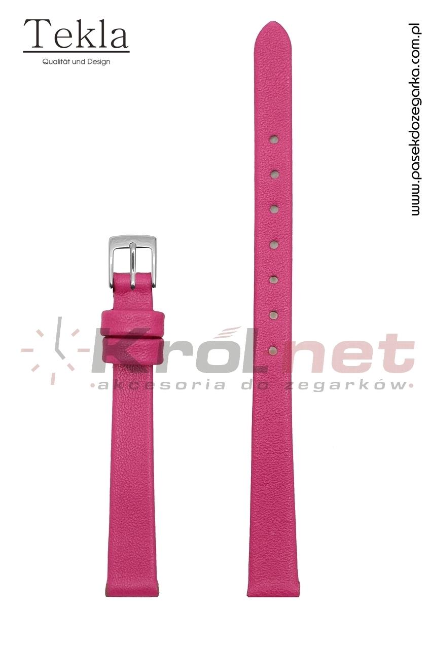 Pasek TK118CROZ/10 - ciemny różowy, gładki