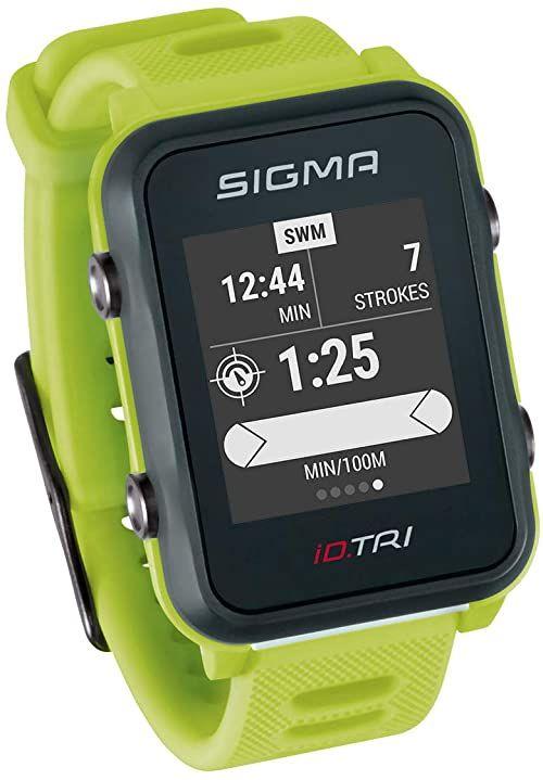 SIGMA SPORT Unisex zegarek triatlonowy ID.TRI GPS, neonowy zielony,