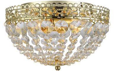 Plafon Saxholm 106063 Markslojd kryształowa oprawa sufitowa w złotym kolorze