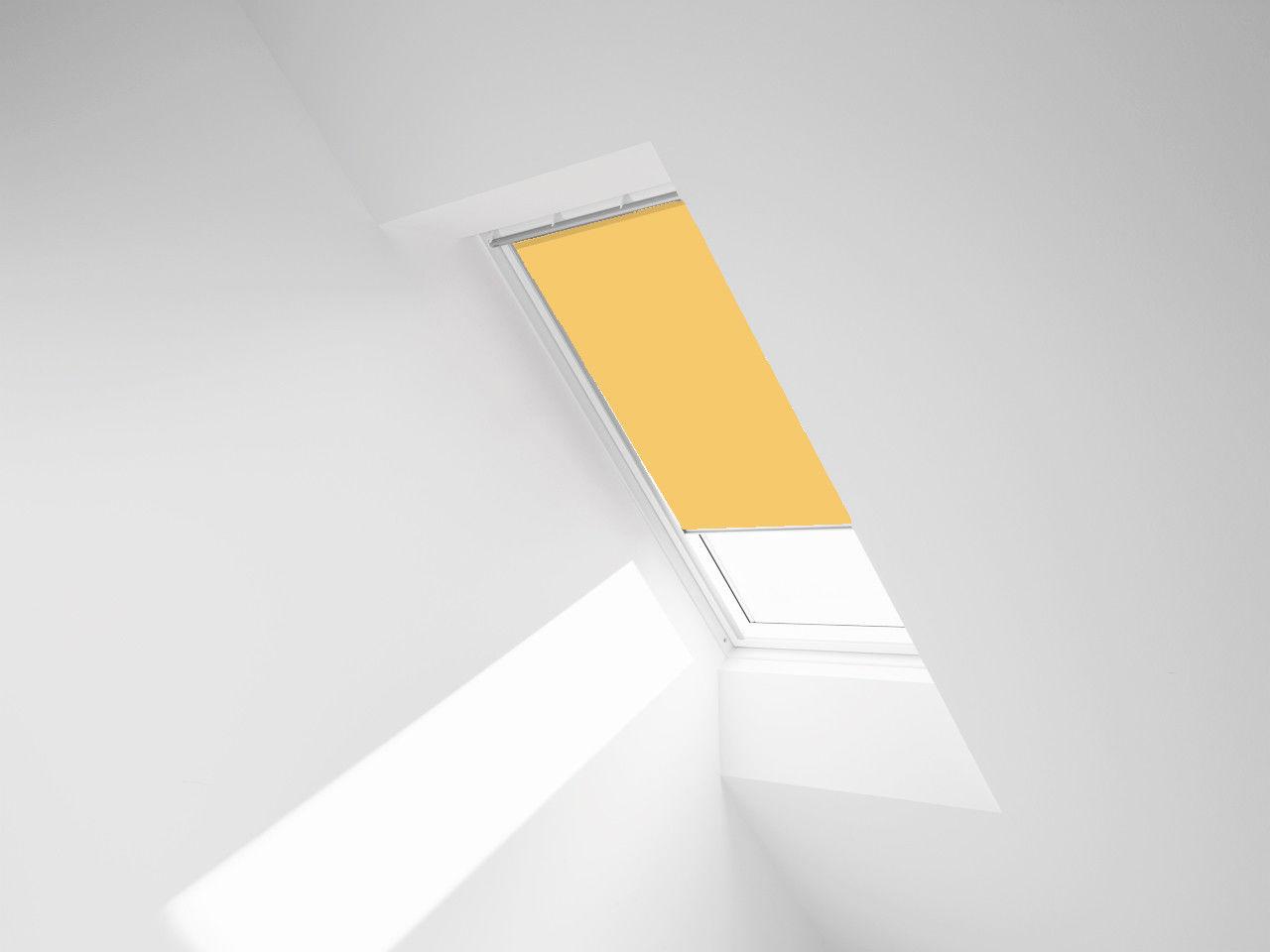 ROLETA ZACIEMNIAJĄCA ROOFART DUR - kolor 4233 (żółty) - 66x118 F6A