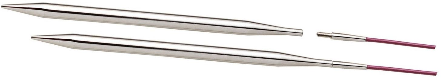 KnitPro Nova Metal: Knitting Pins: Circular: Interchangeable: Special: 4.50mm, srebrny, 4.5mm