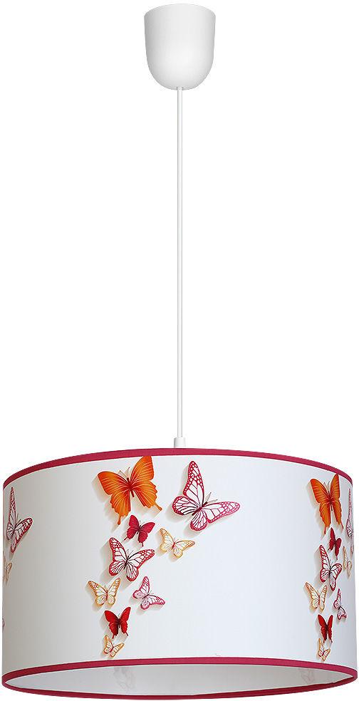 Milagro BUTTERFLIES MLP866 lampa wisząca klosz elegancki klasyczny abażury z motywem latających motyli 1xE27 30cm
