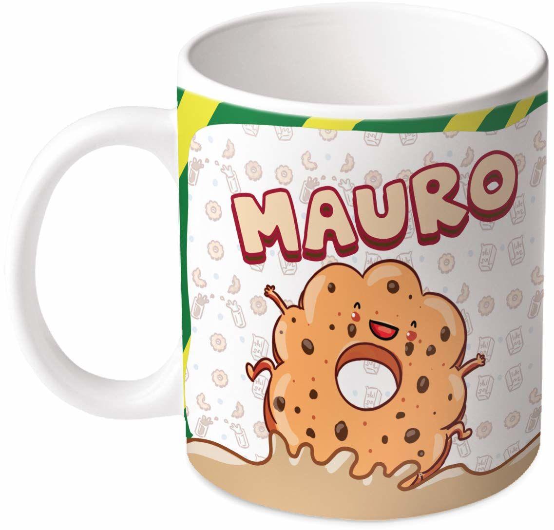 M.M. Group Filiżanka z imieniem i znaczeniem Mauro, 30 ml, ceramika, wielokolorowa