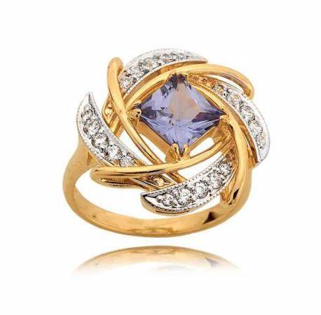 Niesamowicie elegancki pierścionek z topazem