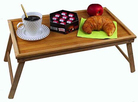 GMMH Oryginalna podstawka pod laptopa bambusowa podkładka składana stolik taca na łóżko taca śniadaniowa taca składana łóżko stół stół taca