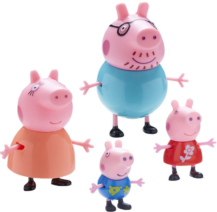 Świnka Peppa - Rodzinka Figurki Mama, Tata, Peppa i Georg 06666