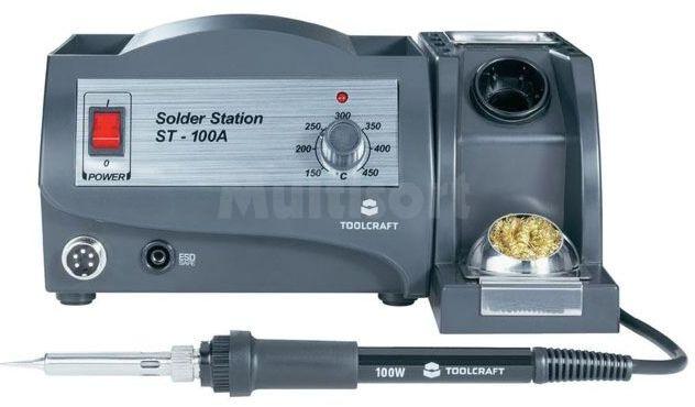 Stacja lutownicza Toolcraft ST-100A 100W 150-450 C