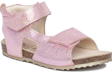 EMEL E2508C- 2509C- sandały, sandałki fusbet, korek dla dziewczynek różowe