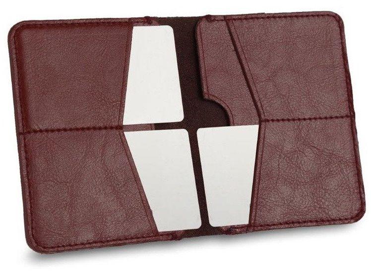 Cienki skórzany męski portfel SOLIER SW10 SLIM bordowy