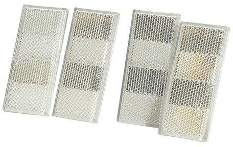 Zestaw: Cztery lampy odblaskowe białe do przyczep