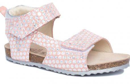 EMEL E2508B- 2509B-6 sandały, sandałki fusbet, korek dla dziewczynek łososiowy