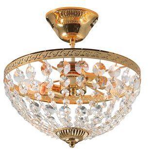 Plafon Hanaskog 30cm 100486 Markslojd kryształowa złota ściemnialna oprawa natynkowa