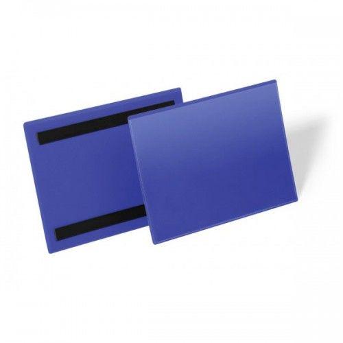 Kieszeń magazynowa magnetyczna DURABLE 210x148mm niebieska (50szt.) 174307