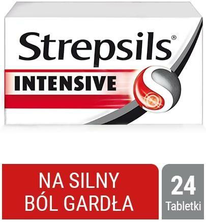 Strepsils Intensive na ostry ból gardła, przeciwzapalny, 24 tabletki do ssania