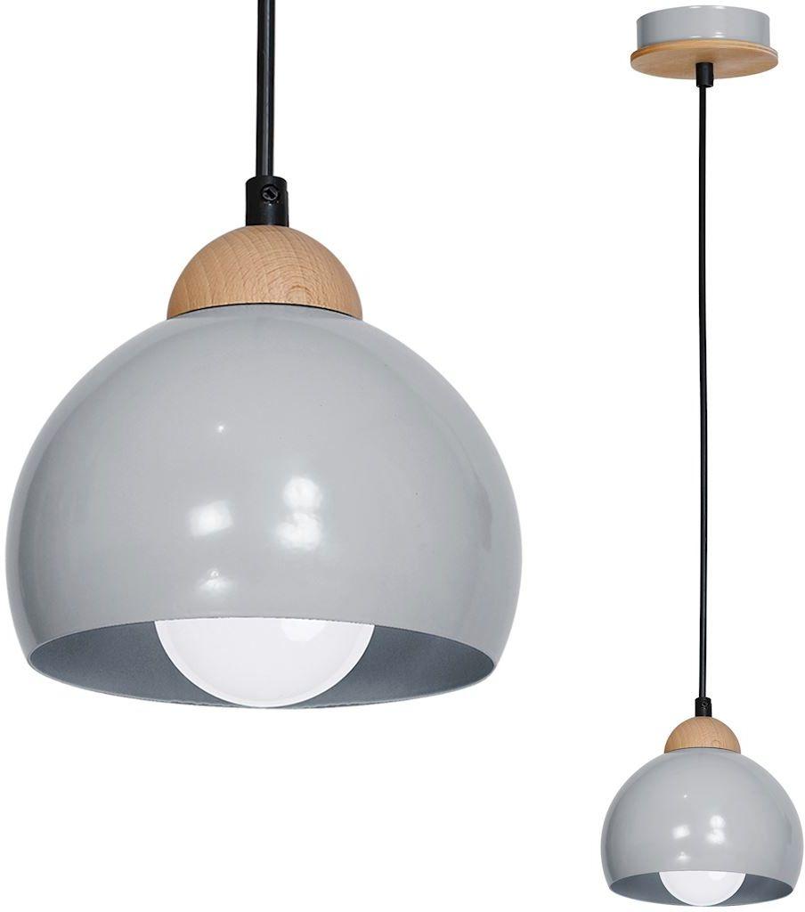 Milagro DAMA GRAY MLP6340 lampa wisząca regulacja wysokości metalowe klosze szary 1xE27 15cm