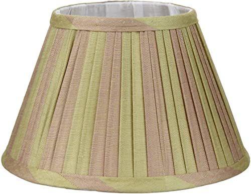 Better & Best 0213258  Klosz lampy z jedwabiu, tabela wąskich pasków 25 cm, dwukolorowy, taupe i zielony