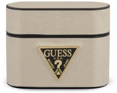 Guess GUACAPVSATMLLG AirPods Pro cover beżowy/beige Saffiano