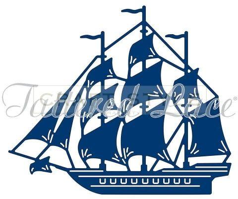 Wykrojnik Tattered Lace - Sailing Ship