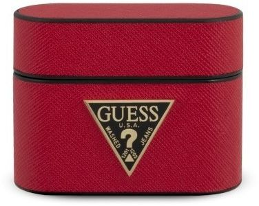 Guess GUACAPVSATMLRE AirPods Pro cover czerwony/red Saffiano