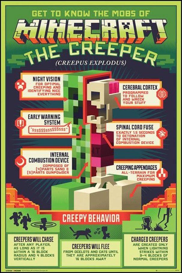 Minecraft creepy behaviour - plakat