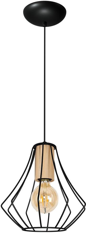 Milagro WILL BLACK MLP4188 lampa wisząca regulacja wysokości czarny klosz industrialna 1xE27 24cm