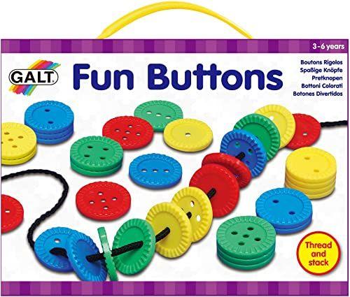 Galt Toys, Zabawne guziki, zabawka do nawlekania, wiek 3 lata Plus