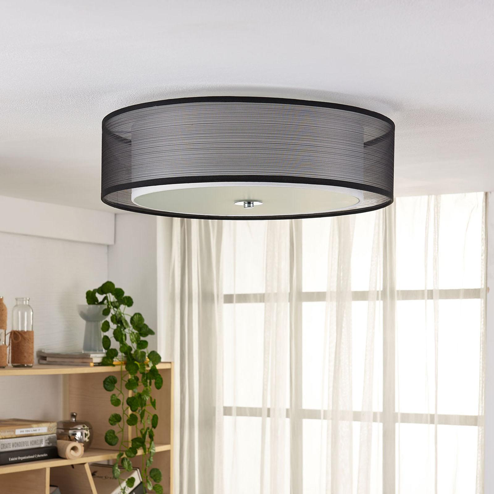 Lampa sufitowa Tobia easydim, klosz z organzy, LED