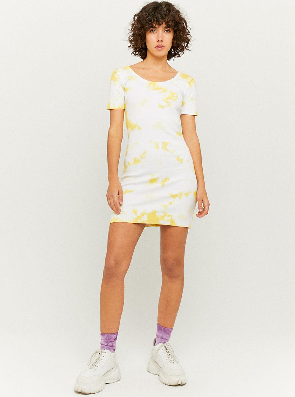 Tally Weijl żółto-kremowa sukienka ołówkowa