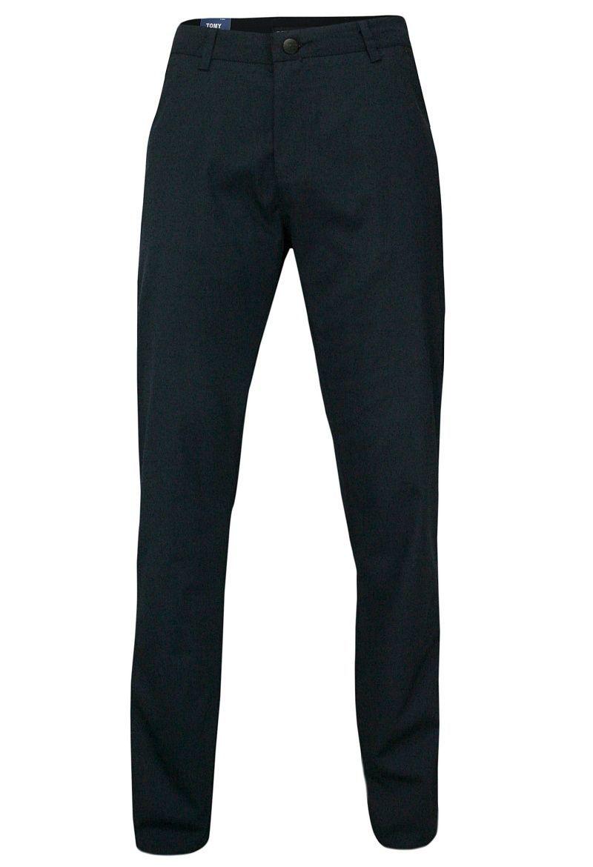 Męskie Spodnie, Chinosy, Klasyczne, Granatowe SPTWKR1628765lacivert