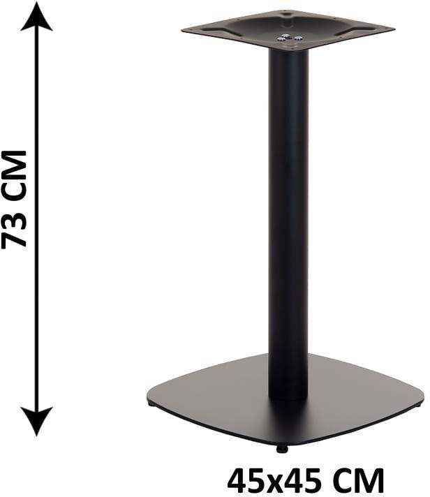 Podstawa stolika SH-3050-2/B, 45x45 cm, (stelaż stolika), kolor czarny