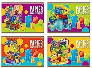 Papier kolorowy samoprzylepny B4 FLUO Interdruk
