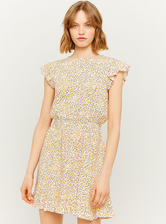 Tally Weijl żółta sukienka kwiecista