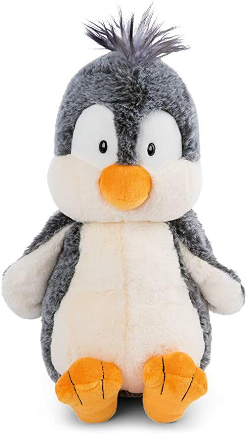 NICI 47266 Pluszak Pingwin 75cm  Pluszowe zabawki dla dziewczynek, chłopców i niemowląt  Puszysty plusz do przytulania i zabawy  Przytulanki z kolekcji zimowej, szaro-białe