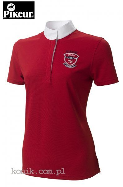 Koszula konkursowa damska - PIKEUR - czerwona