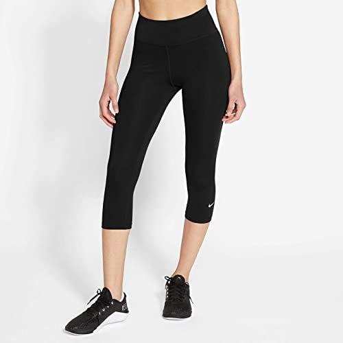 Nike Damskie legginsy W Nike One Tight Mr Cpri 2.0 czarny czarny/biały XL
