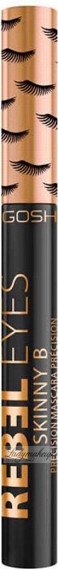 GOSH - REBEL EYES - SKINNY B PRECISION MASCARA - Wodoodporny tusz do rzęs - 001 Extreme Black