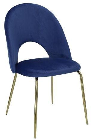 Krzesło Solie Velvet niebieskie