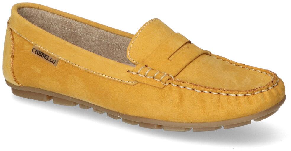 Mokasyny CheBello 2249-177 Żółte nubuk