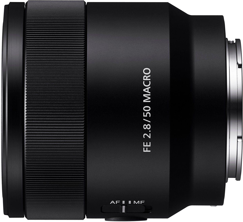 Sony FE 50 mm F2.8 Macro, stałoogniskowy obiektyw macro z mocowaniem typu E, odpowiedni do serii aparatów pełnoklatkowych (a7, a9, a1), czarny. (SEL50M28.SYX)
