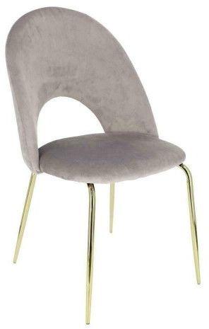 Krzesło Solie Velvet szare