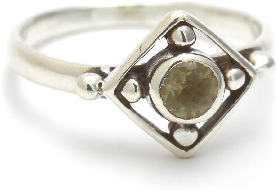Kuźnia Srebra - Pierścionek srebrny, rozm. 12, Cytryn, 2g, model