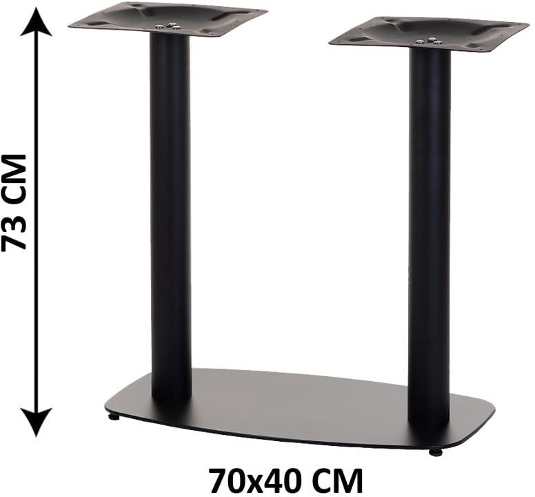 Podstawa stolika podwójna SH-3052/B, (stelaż stolika), kolor czarny