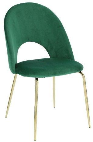 Krzesło Solie Velvet zielone