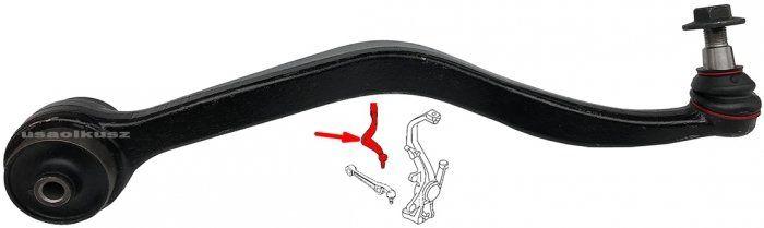 Wahacz przedni dolny lewy - tylny wygięty Lincoln MKZ -2012