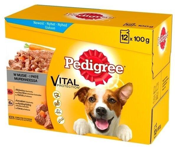 Pedigree wołowina/kurczak w musie 12x100g