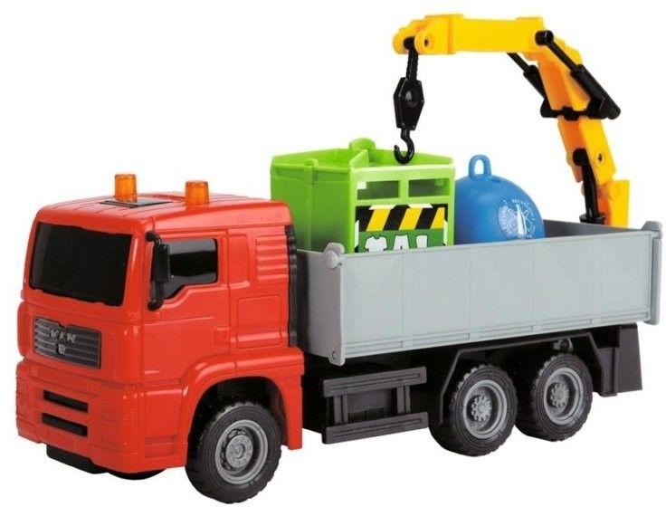 DICKIE Pojazdy Heavy City Ciężarówka Śmieciarka Dźwig