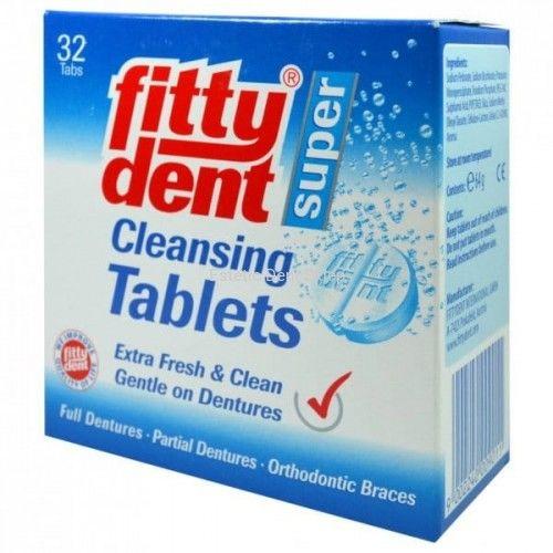 Fittydent tabletki do czyszczenia protez zębowych i ruchomych aparatów ortodontycznych 32 sztuki