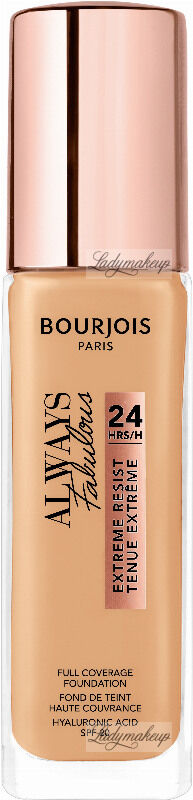 Bourjois - ALWAYS FABULOUS - 24H FULL COVERAGE FOUNDATION - Podkład kryjący - 30 ml - 210 - VANILLA