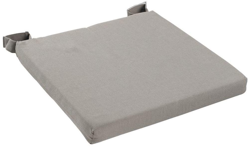 Poduszka na krzesło Joy ciemnoszara 40 x 40 x 4 cm Inspire