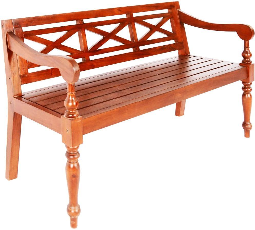Ogrodowa ławka Dima - ciemnobrązowa